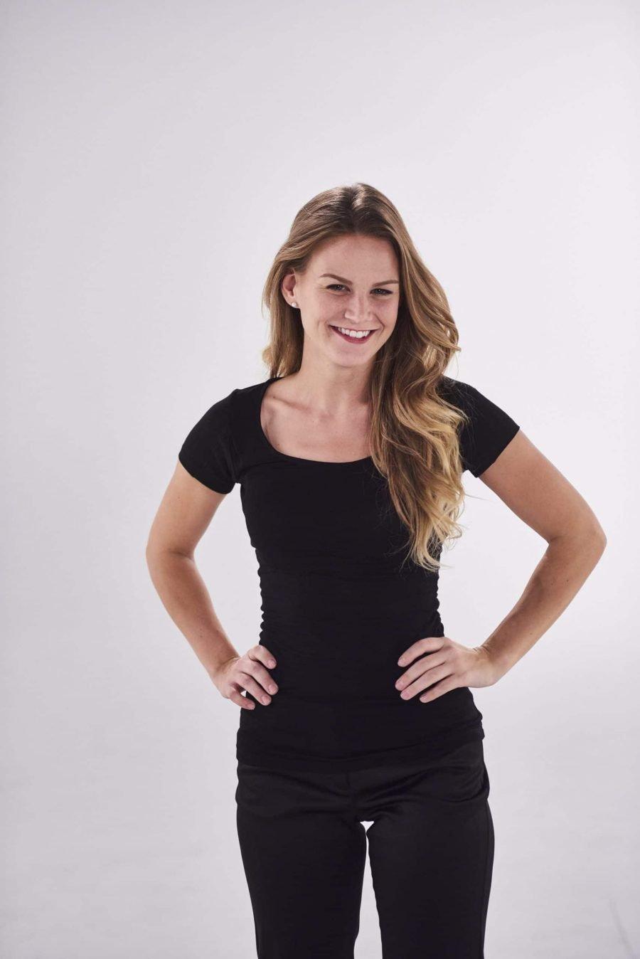 The TopDry Sweatproof Women Scoop Neck Undershirt Black
