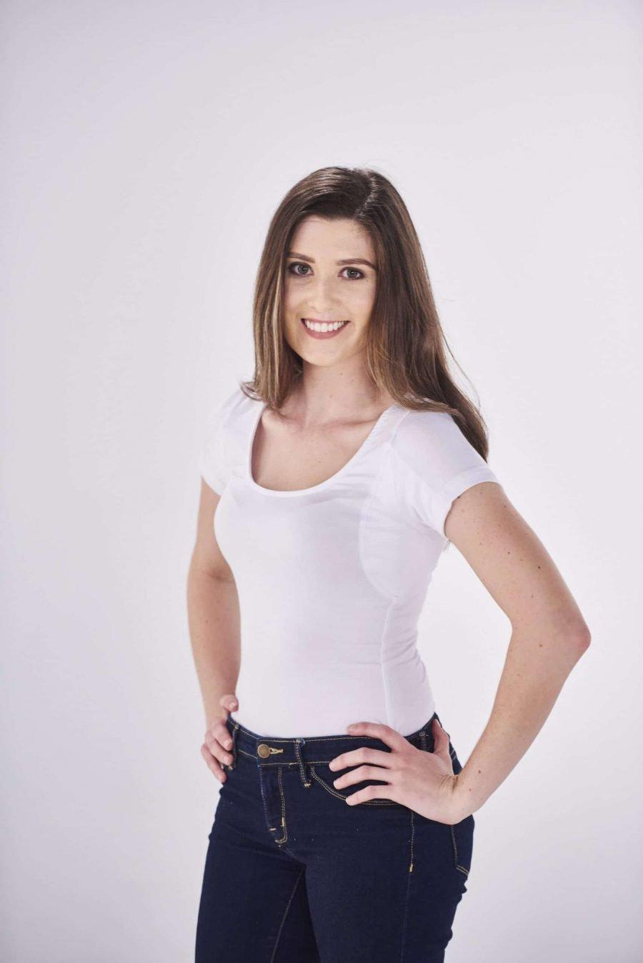The TopDry Sweatproof Women Scoop Neck Undershirt White